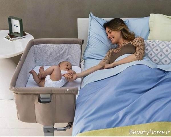 مدل تخت نوزاد کنار مادر