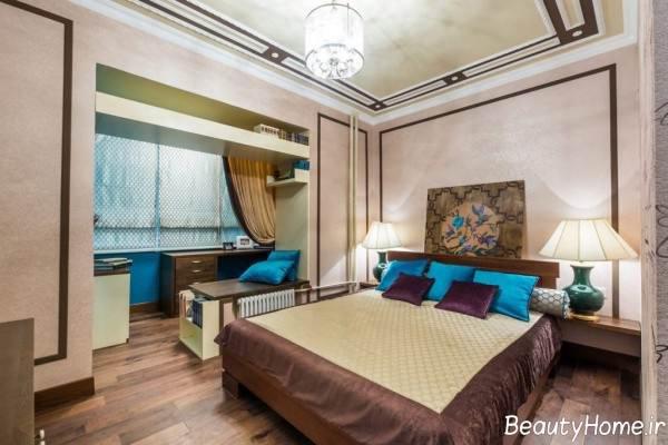 طراحی اتاق خواب با 12 متر