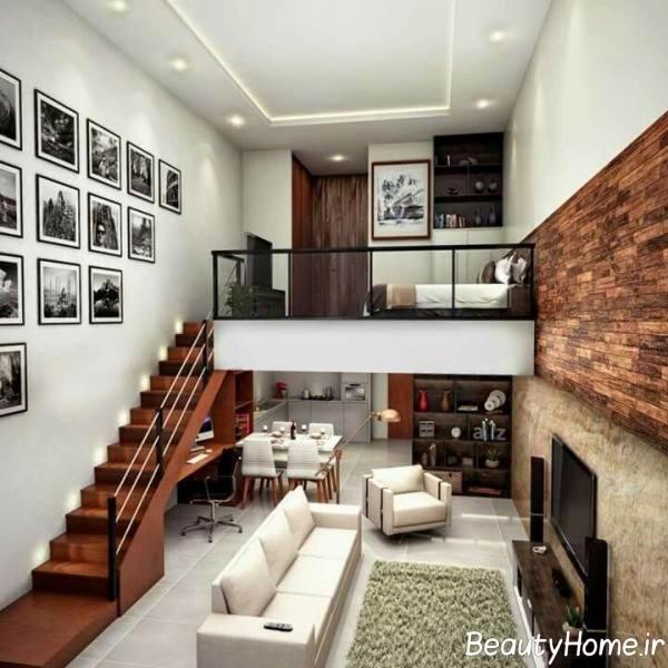 دکوراسیون زیبا و مدرن خانه دوبلکس