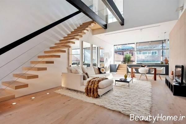 طراحی مدرن برای منزل دوبلکس