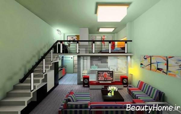 دکوراسیون مدرن خانه دوبلکس کوچک