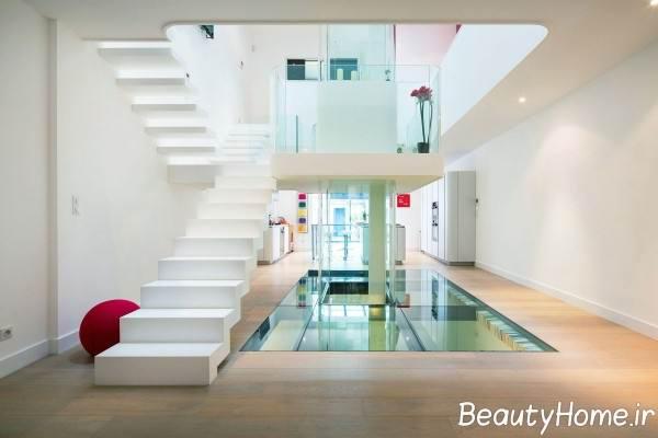 طراحی خانه دوبلکس با رنگ های روشن