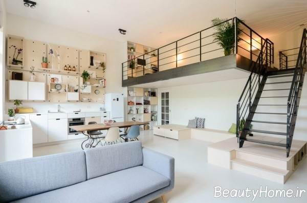 دکوراسیون زیبا و بی نظیر خانه دوبلکس