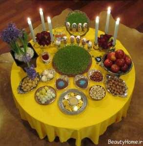 طراحی هفت سین روی میز