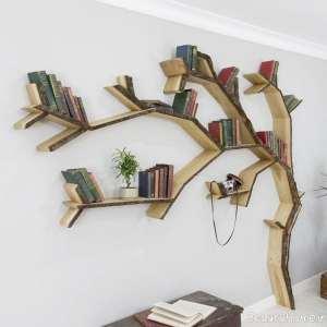 طرح کتابخانه دیواری