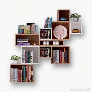 کتابخانه دیواری زیبا