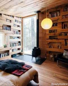 کتابخانه شیک و زیبا