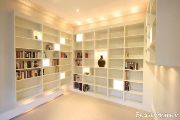 کتابخانه زیبا و ساده
