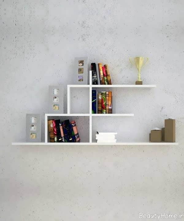 قفسه کتاب ساده