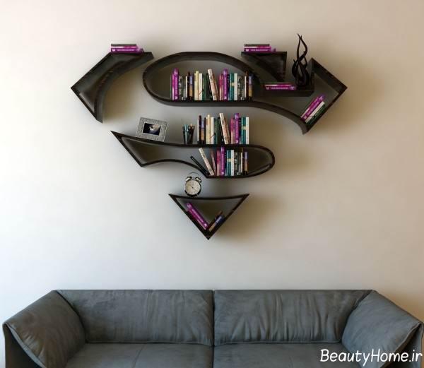کتابخانه شیک دیواری