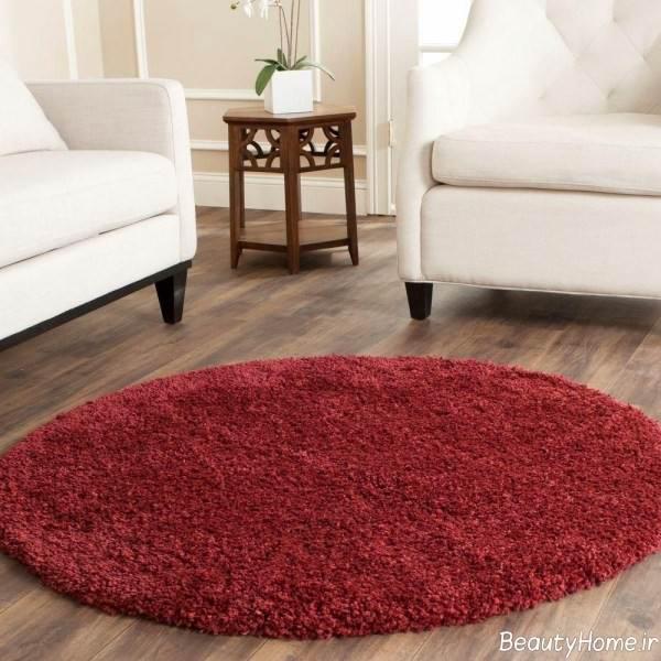 فرش گرد پرز دار