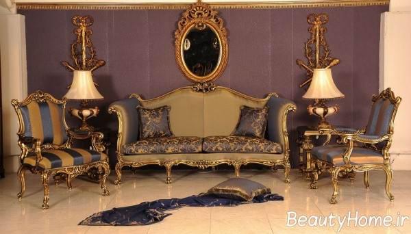 مدل مبل سلطنتی طرح دار و زیبا