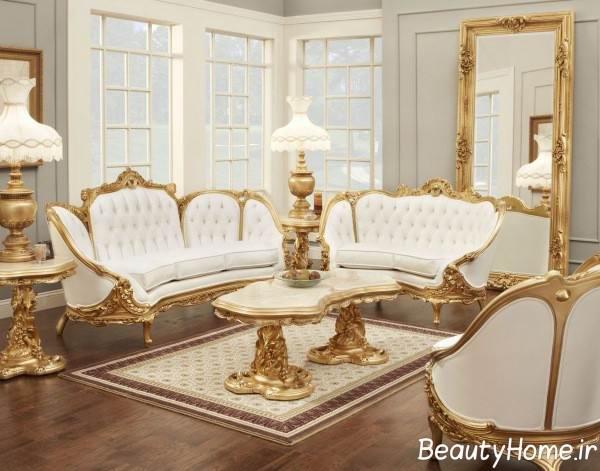 مدل مبل سلطنتی سفید