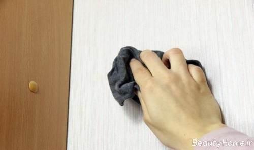 تمیز کردن کاغذ دیواری با روش های مختلف