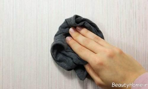 روش هایی برای تمیز کردن کاغذ دیواری