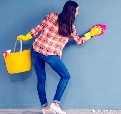 روش های ساده برای شستن کاغذ دیواری