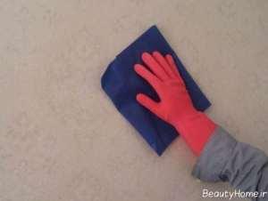 سه روش برای شستن کاغذ دیواری
