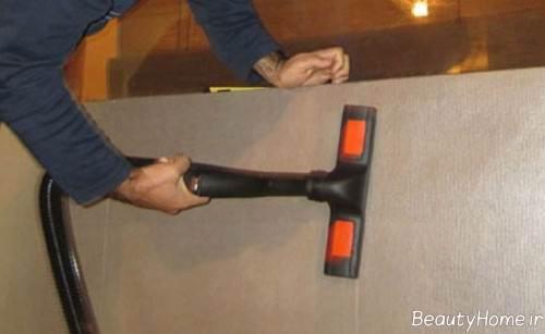 تمیز کردن کاغذ دیواری با بخارشوی