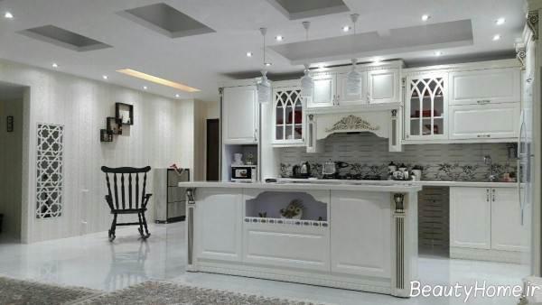 مدل کابینت کلاسیک برای آشپزخانه