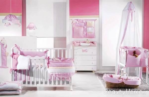 سرویس خواب زیبا و سفید برای نوزاد