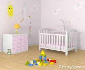 سرویس خواب نوزاد رنگ روشن