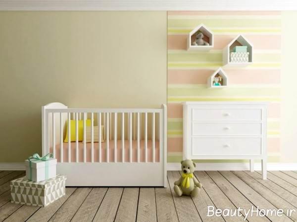 سرویس خواب زیبا و شیک برای نوزاد