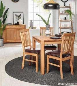 میز صبحانه خوری چوبی