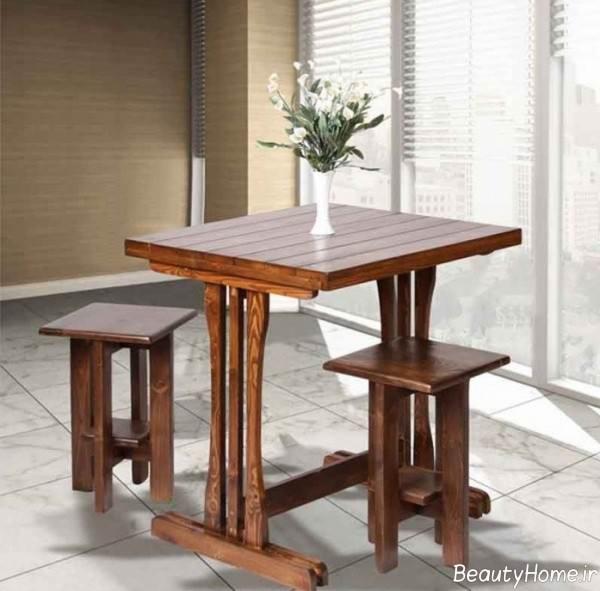 میز چوبی صبحانه خوری