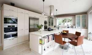 دکوراسیون آشپزخانه سفید دانمارکی
