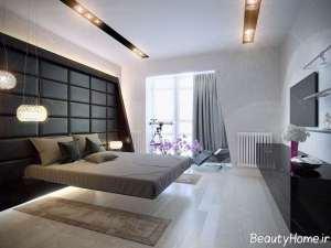 دیزاین نورپردازی برای کف اتاق خواب