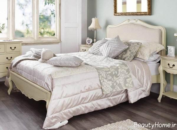 دکوراسیون زیبا و شیک اتاق خواب فرانسوی