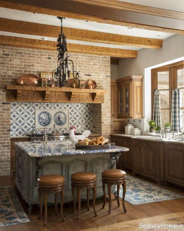 دکوراسیون آشپزخانه فرانسوی