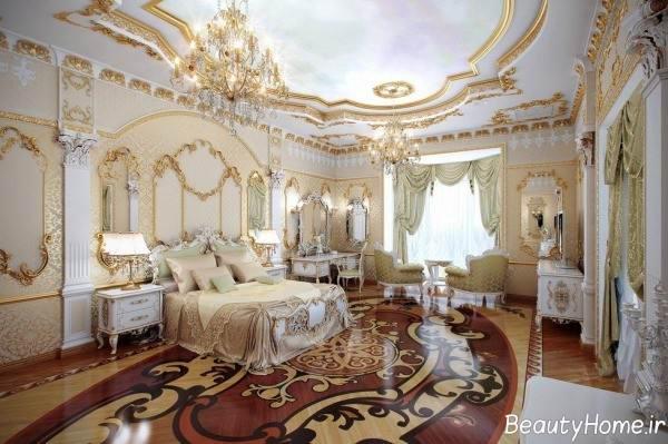طراحی داخلی اتاق خواب فرانسه