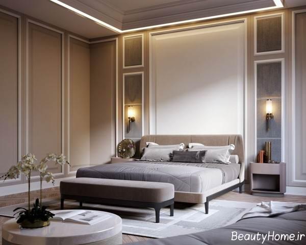 نورپردازی اتاق خواب با سبک تلفیقی