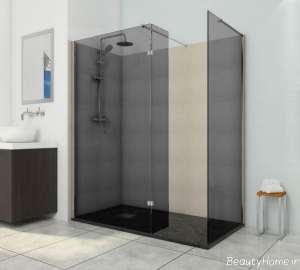حمام شیشه ای شیک