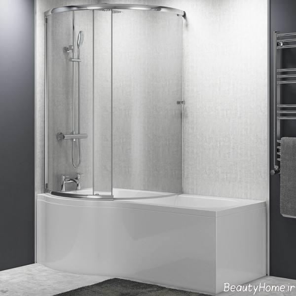 حمام شیشه ای مدرن
