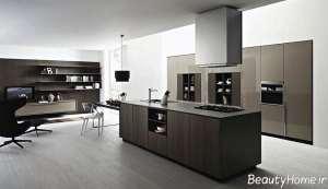 کابینت دو رنگ برای آشپزخانه