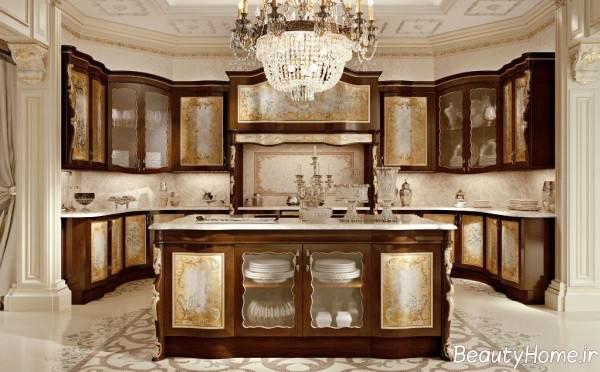 کابینت قهوه ای کلاسیک