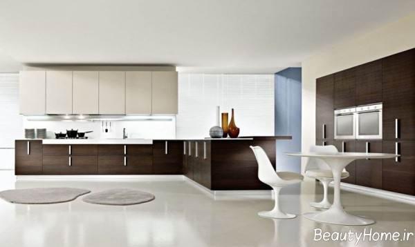 کابینت دو رنگ آشپزخانه