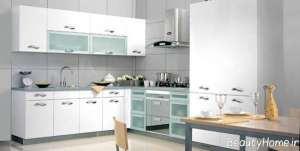 طرح کابینت سفید برای آشپزخانه