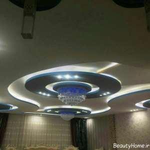 نورپردازی سقف کناف برای سالن پذیرایی
