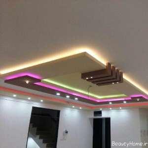 نورپردازی سقف کناف برای پذیرایی