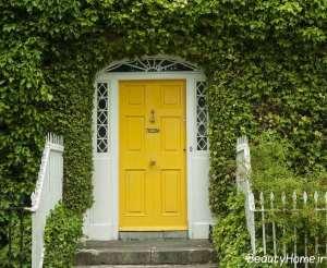 مدل درب زرد برای ساختمان