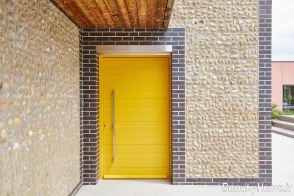 درب زرد ساختمان