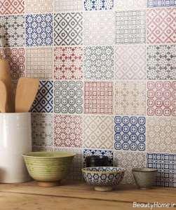مدل کاشی های طرح دار برای آشپزخانه