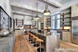 ایده طراحی آشپزخانه روستیک