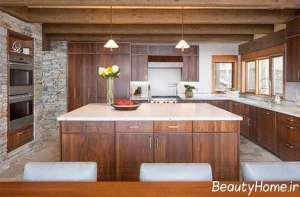 دکوراسیون جذاب آشپزخانه روستیک