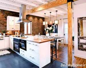دکوراسیون جدید آشپزخانه روستیک
