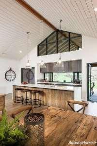 تصویری از طراحی آشپزخانه روستیک