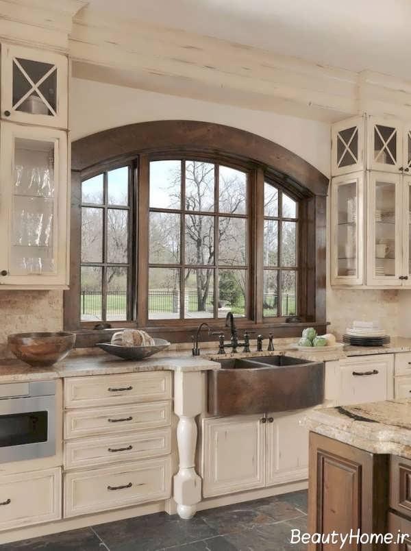 چیدمان آشپزخانه به سبک روستیک